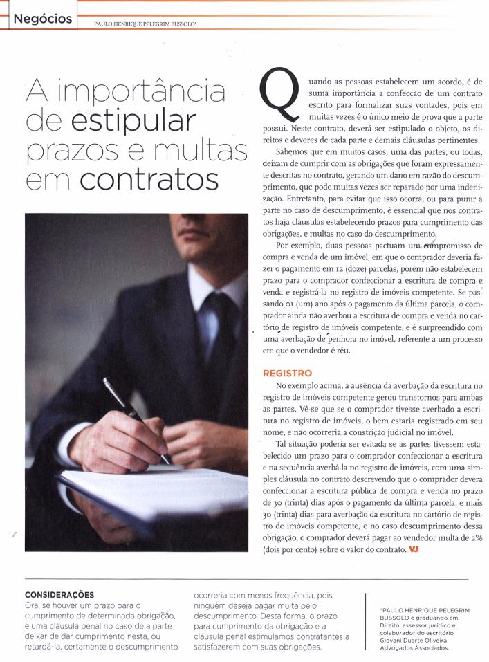 a importancia de estipular prazos e multas em contratos